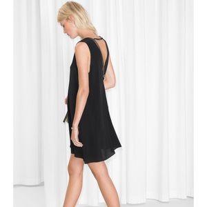 Fun Black Swing Dress, Low Back